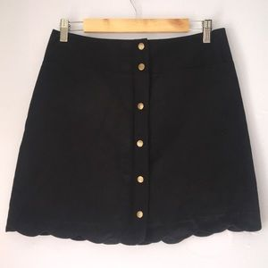 Xhilaration Black Suede Button Skirt Size Medium